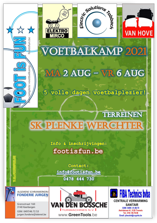 Affiche Foot is Fun Plenke Werchter 2021